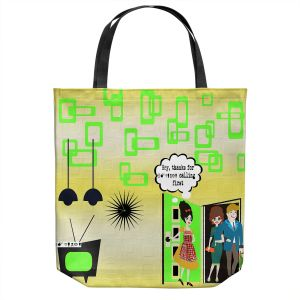 Unique Shoulder Bag Tote Bags | Susie Kunzelman - Just Sayin | People Abstract Pattern