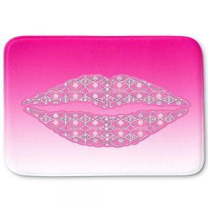 Decorative Bathroom Mats | Susie Kunzelman - Lips Hot Pink