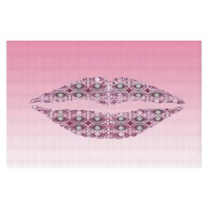 Decorative Floor Coverings | Susie Kunzelman - Lips Pantone Rose Quartz