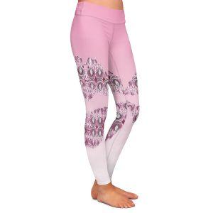 Casual Comfortable Leggings | Susie Kunzelman - Lips Pantone Rose Quartz