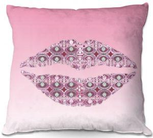 Throw Pillows Decorative Artistic | Susie Kunzelman - Lips Pantone Rose Quartz