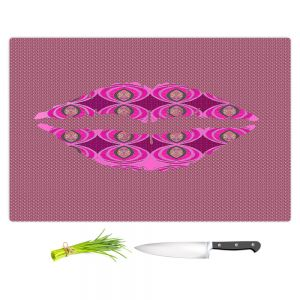 Artistic Kitchen Bar Cutting Boards | Susie Kunzelman - Lips Pink