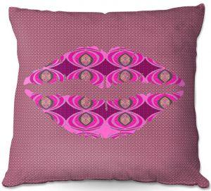 Throw Pillows Decorative Artistic | Susie Kunzelman - Lips Pink