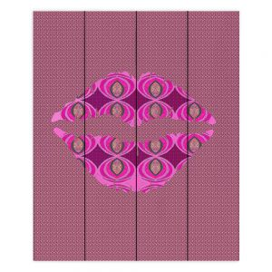 Decorative Wood Plank Wall Art | Susie Kunzelman - Lips Pink