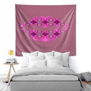 Artistic Wall Tapestry   Susie Kunzelman - Lips Pink