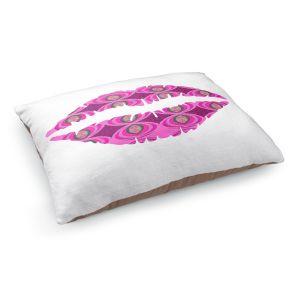 Decorative Dog Pet Beds | Susie Kunzelman - Lips Pink White