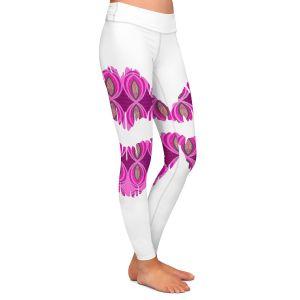 Casual Comfortable Leggings | Susie Kunzelman - Lips Pink White