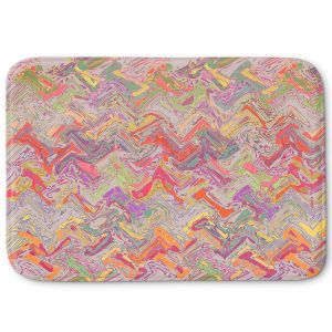 Decorative Bathroom Mats | Susie Kunzelman - Living Coral | Colorful abstract pattern