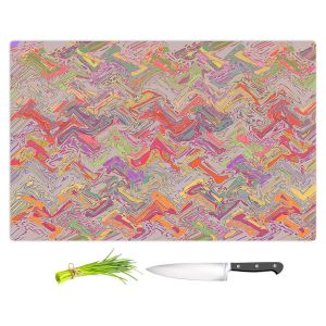 Artistic Kitchen Bar Cutting Boards | Susie Kunzelman - Living Coral | Colorful abstract pattern