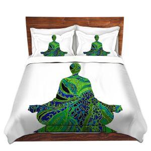 Artistic Duvet Covers and Shams Bedding | Susie Kunzelman - Man Woman Yoga II