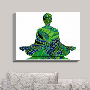 Decorative Canvas Wall Art | Susie Kunzelman - Man Woman Yoga II