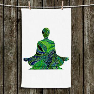 Unique Bathroom Towels | Susie Kunzelman - Man Woman Yoga II