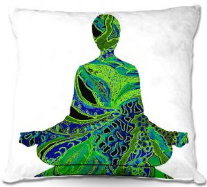 Throw Pillows Decorative Artistic | Susie Kunzelman's Man Woman Yoga II