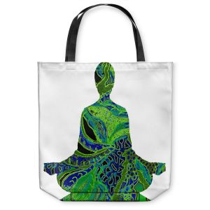 Unique Shoulder Bag Tote Bags | Susie Kunzelman Man Woman Yoga II