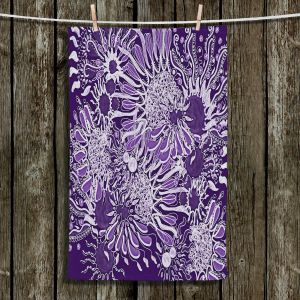 Unique Bathroom Towels | Susie Kunzelman - Many Suns Violet | abstract flower pattern floral