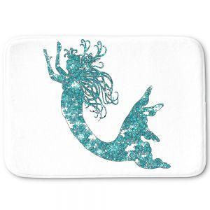 Decorative Bathroom Mats | Susie Kunzelman - Mermaid Aqua
