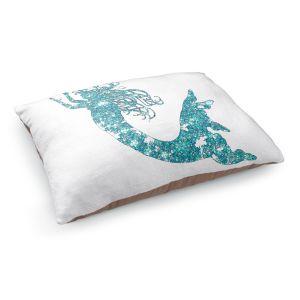 Decorative Dog Pet Beds | Susie Kunzelman's Mermaid Aqua