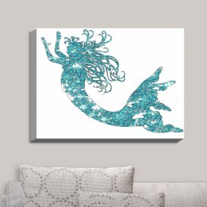 Decorative Canvas Wall Art | Susie Kunzelman - Mermaid Aqua