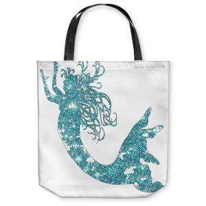 Unique Shoulder Bag Tote Bags | Susie Kunzelman Mermaid Aqua