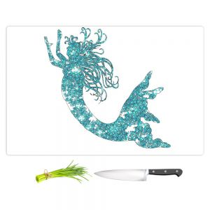Artistic Kitchen Bar Cutting Boards | Susie Kunzelman - Mermaid Aqua