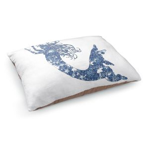 Decorative Dog Pet Beds | Susie Kunzelman's Mermaid Blue