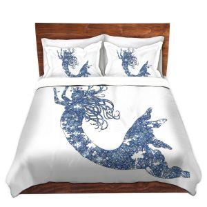 Artistic Duvet Covers and Shams Bedding | Susie Kunzelman - Mermaid Blue