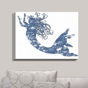 Decorative Canvas Wall Art | Susie Kunzelman - Mermaid Blue