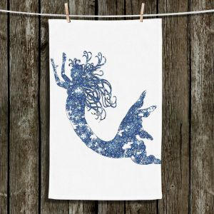 Unique Hanging Tea Towels | Susie Kunzelman - Mermaid Blue | Mermaids Fantasy Magical Childlike