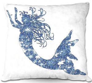 Decorative Outdoor Patio Pillow Cushion | Susie Kunzelman - Mermaid Blue