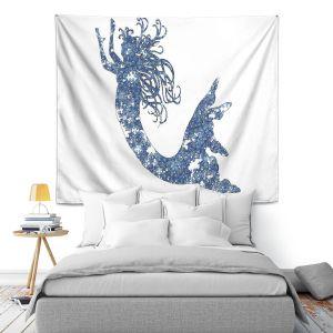 Artistic Wall Tapestry | Susie Kunzelman Mermaid Blue