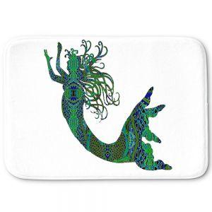 Decorative Bathroom Mats | Susie Kunzelman - Mermaid Forest