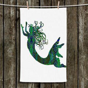 Unique Bathroom Towels | Susie Kunzelman - Mermaid Forest