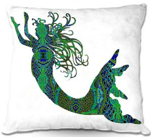 Throw Pillows Decorative Artistic | Susie Kunzelman's Mermaid Forest