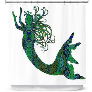 Premium Shower Curtains | Susie Kunzelman Mermaid Forest
