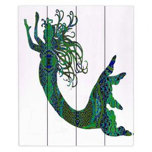 Decorative Wood Plank Wall Art | Susie Kunzelman Mermaid Forest