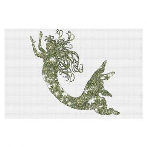 Decorative Floor Coverings   Susie Kunzelman Mermaid Green