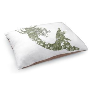 Decorative Dog Pet Beds | Susie Kunzelman's Mermaid Green
