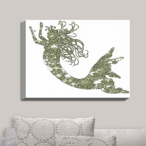 Decorative Canvas Wall Art | Susie Kunzelman - Mermaid Green
