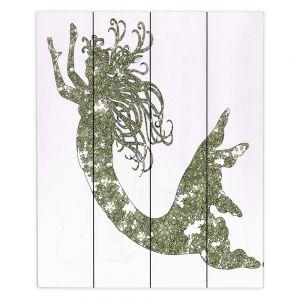 Decorative Wood Plank Wall Art | Susie Kunzelman Mermaid Green