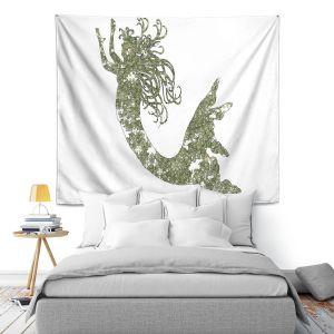Artistic Wall Tapestry | Susie Kunzelman Mermaid Green