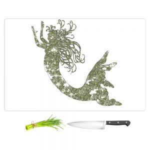 Artistic Kitchen Bar Cutting Boards | Susie Kunzelman - Mermaid Green