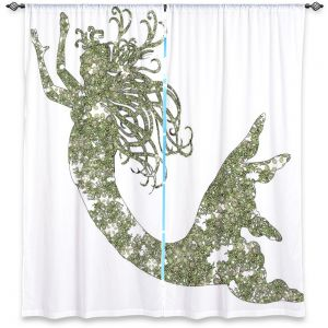 Decorative Window Treatments   Susie Kunzelman Mermaid Green