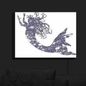 Nightlight Sconce Canvas Light | Susie Kunzelman - Mermaid Periwinkle | Mermaids Fantasy Magical Childlike
