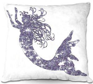 Throw Pillows Decorative Artistic | Susie Kunzelman's Mermaid Periwinkle