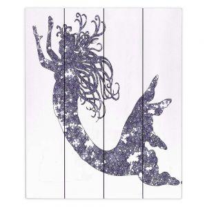 Decorative Wood Plank Wall Art | Susie Kunzelman Mermaid Periwinkle