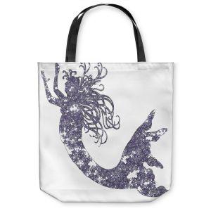 Unique Shoulder Bag Tote Bags | Susie Kunzelman Mermaid Periwinkle