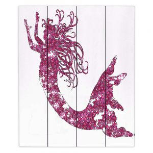 Decorative Wood Plank Wall Art | Susie Kunzelman Mermaid Pink