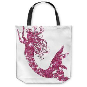 Unique Shoulder Bag Tote Bags | Susie Kunzelman Mermaid Pink