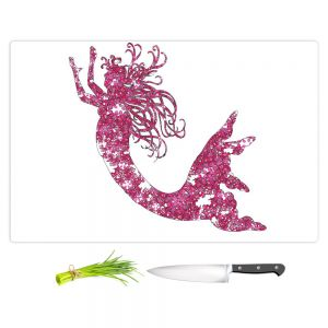 Artistic Kitchen Bar Cutting Boards | Susie Kunzelman - Mermaid Pink
