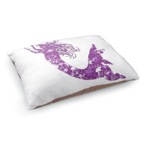 Decorative Dog Pet Beds | Susie Kunzelman's Mermaid Purple
